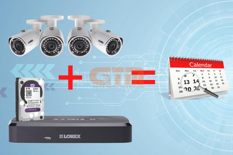Cách tính dung lượng lưu trữ của ổ cứng cho camera IP